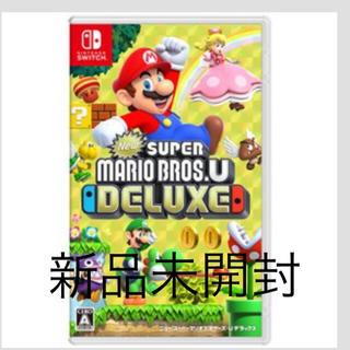 ニンテンドースイッチ(Nintendo Switch)の新品  スーパーマリオブラザーズUデラックス 任天堂スイッチ Switch(家庭用ゲームソフト)