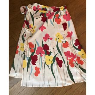 ホコモモラ(Jocomomola)のホコモモラ  花柄 春夏 巻き ラップ スカート(ひざ丈スカート)