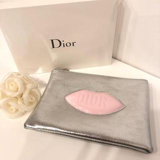 クリスチャンディオール(Christian Dior)の残り1 ディオール コスメ ポーチ シルバー ピンク(ポーチ)