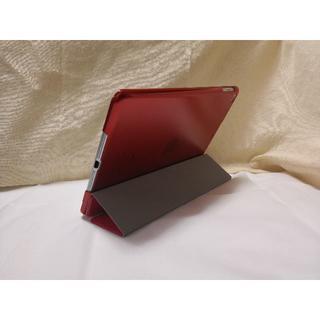 ちょこ様用 強化ガラスとiPad 第6世代/第5世代/Air レッドケース(iPadケース)
