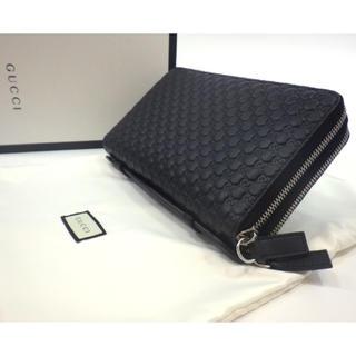 グッチ(Gucci)の【新品・未使用】 GUCCI グッチ 財布 カードケース 革 レザー  黒(長財布)
