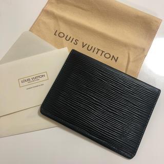 ルイヴィトン(LOUIS VUITTON)の未使用 ルイヴィトン エピ 定期入れ カードケース (名刺入れ/定期入れ)