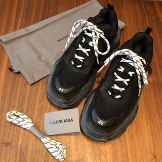バレンシアガ(Balenciaga)のBALENCIAGA / Triple S Clear Sole 黒 送料込(スニーカー)