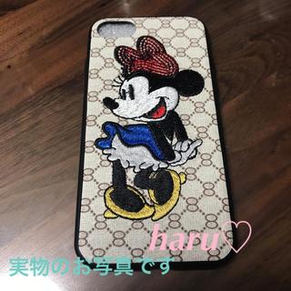 ディズニー(Disney)の❤︎iPhoneケース❤︎ミニー❤︎刺繍❤︎新品(iPhoneケース)