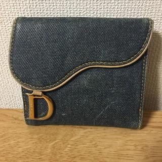 クリスチャンディオール(Christian Dior)の【鑑定済】正規Dior デニムWホック財布(財布)