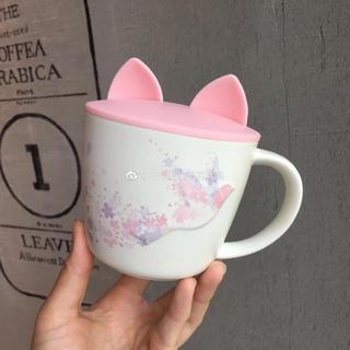 スターバックスコーヒー(Starbucks Coffee)のセット!桜 鳥 マグカップ タンブラー 猫耳カバー付 海外スターバックス ねこ(グラス/カップ)