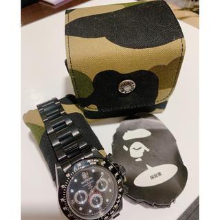 アベイシングエイプ(A BATHING APE)のAPE 腕時計 人気の黒色(腕時計(アナログ))