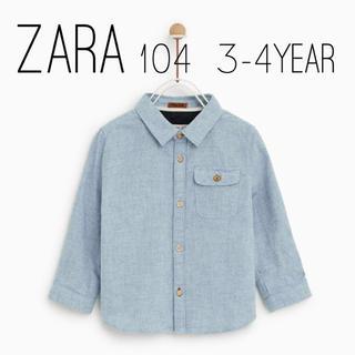 ザラキッズ(ZARA KIDS)のZARA ザラ ベビー デニムシャツ 104 size(ブラウス)