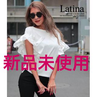 アナップラティーナ(ANAP Latina)の袖 ボリューム トップス ブラック まとめ買い割引きあり(カットソー(半袖/袖なし))