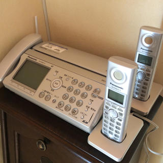 Panasonic - パナソニック FAX 電話機 KX-PW607-S 子機 KX-FKN515