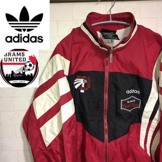 アディダス(adidas)のadidas アディダス ナイロンジャケットサッカートリコカラー日本未発売90s(ナイロンジャケット)