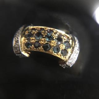 アレキサンドライト ダイアモンド pt900 18k リング 指輪 15号(リング(指輪))