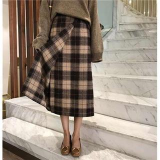 ユナイテッドアローズ(UNITED ARROWS)のSNS人気♡チェックスカート タイトスカート セットアップ ZARA KBF M(ロングスカート)