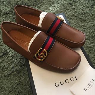 グッチ(Gucci)の新品 GUCCI ローファー 革靴 27.0cm グッチ ソフトレザー メンズ(スリッポン/モカシン)