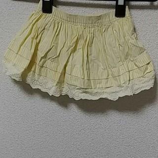 ベビーギャップ(babyGAP)のbabyGAP 黄色ストライプスカート 80(スカート)