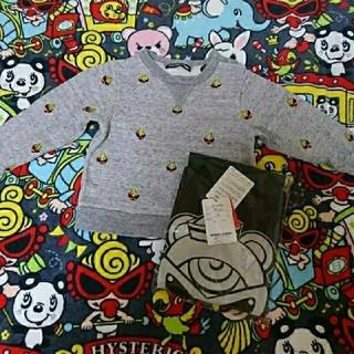 ヒステリックミニ(HYSTERIC MINI)の刺繍トレーナー Tシャツ(Tシャツ/カットソー)
