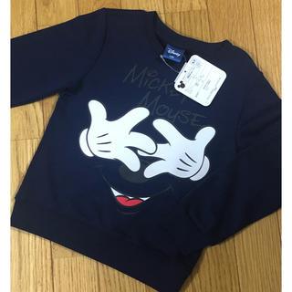 ディズニー(Disney)の新品☆120 ディズニー ミッキー キッズ 薄手トレーナー(Tシャツ/カットソー)