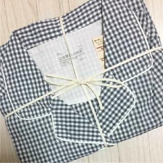 MUJI (無印良品) - 新品 無印良品のパジャマ Mサイズネイビー×チェック(脇に縫い目がないブロード)