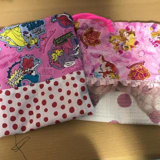 ディズニー(Disney)のプリンセス 巾着 コップ袋 入園 入学 ハンドメイド(ランチボックス巾着)