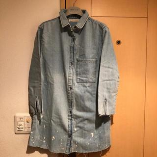 ザラキッズ(ZARA KIDS)のZARA KIDS*美品 デニムロングシャツ*164(Tシャツ/カットソー)
