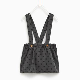 ザラキッズ(ZARA KIDS)のZARA ザラ ベビー ストラップ付きドット柄スカート  104 size(スカート)