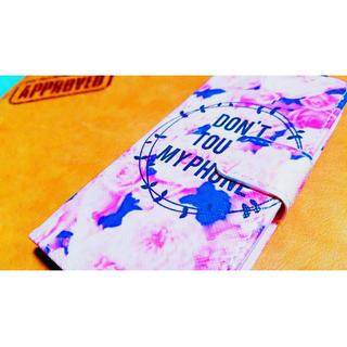 フラワー柄※ピンク※英語※大人気※手帳※iphone7※送料無料※可愛い(iPhoneケース)