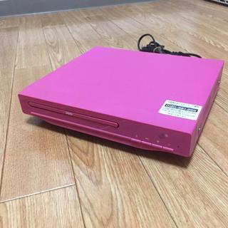 【平岡商事】ピンクのDVDプレイヤー リモコン無し USED(DVDプレーヤー)