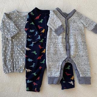 新生児 カバーオール 3点セット ( サイズ: 45 - 60 ) 服