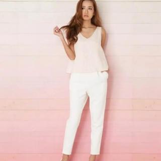fa7c4f266600d rienda - rienda♡バレンタイン限定♡ツイードコンビロンパース ホワイト×ピンク♡M