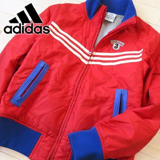 アディダス(adidas)のadidas Mサイズ アディダス レディース 中綿ジャケット レッド(ブルゾン)