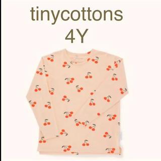 ボンポワン(Bonpoint)のtinycottons タイニーコットンズ チェリーロンT 4Y(Tシャツ/カットソー)