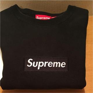 シュプリーム(Supreme)の国内正規 Supreme Box Logo Crewneck 黒 L(スウェット)