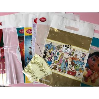 ディズニー(Disney)のディズニー*ショップ袋 お土産袋10枚&ステッカー30枚セット(ショップ袋)