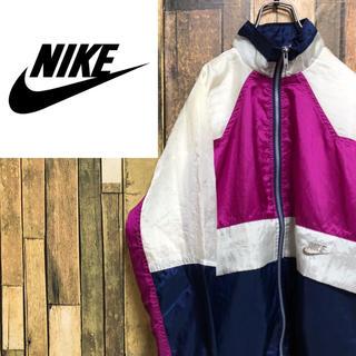 ナイキ(NIKE)の【激レア】ナイキ☆銀タグ刺繍ロゴワッペンマルチデザインナイロンジャケット 90s(ナイロンジャケット)
