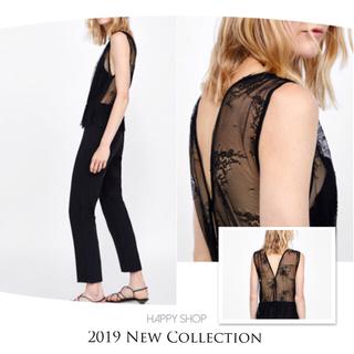 ザラ(ZARA)の希少 完売 新品‼️セクシー♡レース映え♪綺麗な胸元&背中を演出♡オールインワン(オールインワン)