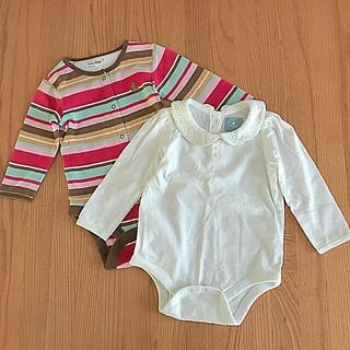 ベビーギャップ(babyGAP)の長袖ロンパース2枚セット(ロンパース)