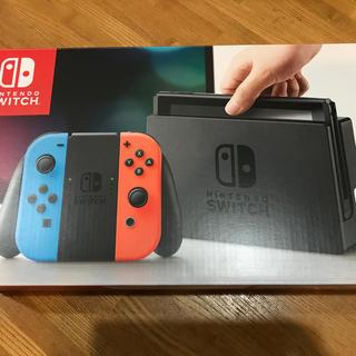 ニンテンドースイッチ(Nintendo Switch)の新品 Nintendo Switch ブルー/レッド ニンテンドースイッチ 本体(家庭用ゲーム本体)