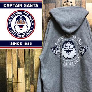 キャプテンサンタ(CAPTAIN SANTA)の【激レア】キャプテンサンタ☆バック刺繍ビッグロゴ入りフリースジップパーカー(パーカー)