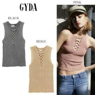 ジェイダ(GYDA)のGYDA 胸元レースアップ ハイネック タンクトップ(タンクトップ)