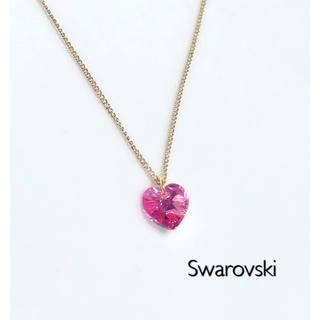 SWAROVSKI - スワロフスキーネックレス♡ローズオーロラハート