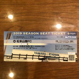2019 J1 第1節 ジュビロ磐田vs松本山雅FC ホームフリーゾーン大人1枚(サッカー)