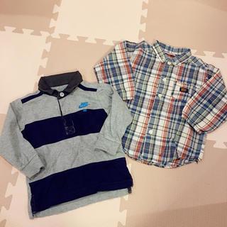 ナイキ(NIKE)のNIKE カットソーと ティンカーベル チェックシャツ(Tシャツ/カットソー)