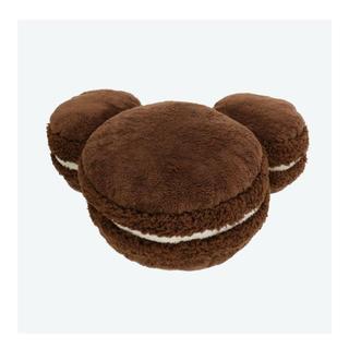 ディズニー(Disney)のミッキーシェイプ チョコレートマカロン クッション☺︎(クッション)