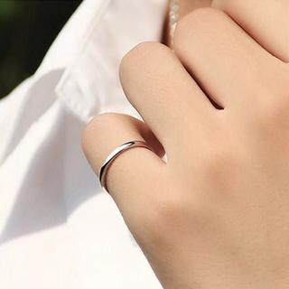 ステンレスリング シンプル  華奢 光沢 アレルギー対応 指輪 甲丸リング(リング(指輪))
