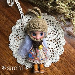 プチブライス ワンピース&うさ耳帽子 2点セット(人形)