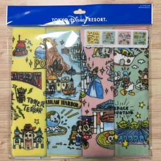 ディズニー(Disney)のディズニーリゾート ファンマップ ミニタオル4枚(タオル)
