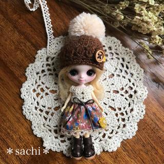 プチブライス ワンピース&ポンポン帽子セット (人形)