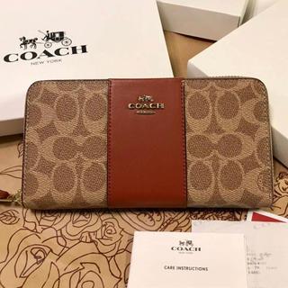 コーチ(COACH)のコーチ 新品 ブラウン レザー 長財布(財布)