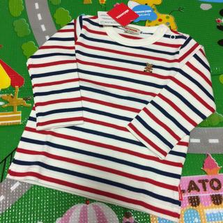 ミキハウス(mikihouse)の【新品未使用】ミキハウス ボーダーロンT 80(Tシャツ)