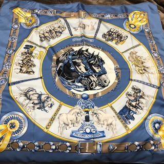 エルメス(Hermes)のHERMES blue  scarf もりげ(バンダナ/スカーフ)